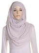 Oyster Grey Pearl Beaded Crinkle Hijab