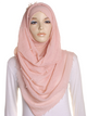 Peach Pearl Beaded Crinkle Hijab
