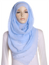 Sky Blue Pearl Beaded Crinkle Hijab