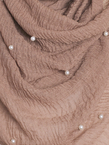 Tortilla Pearl Beaded Crinkle Hijab
