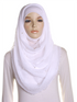 White Pearl Beaded Crinkle Hijab