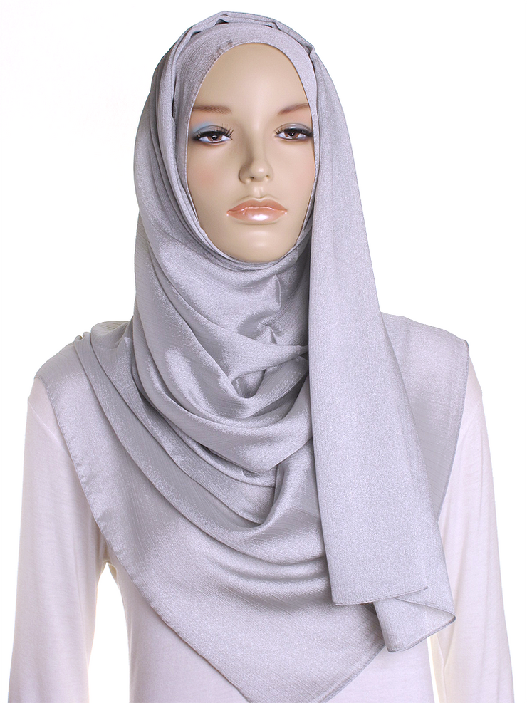 Silver Shimmer Hijab - Hijab Store Online