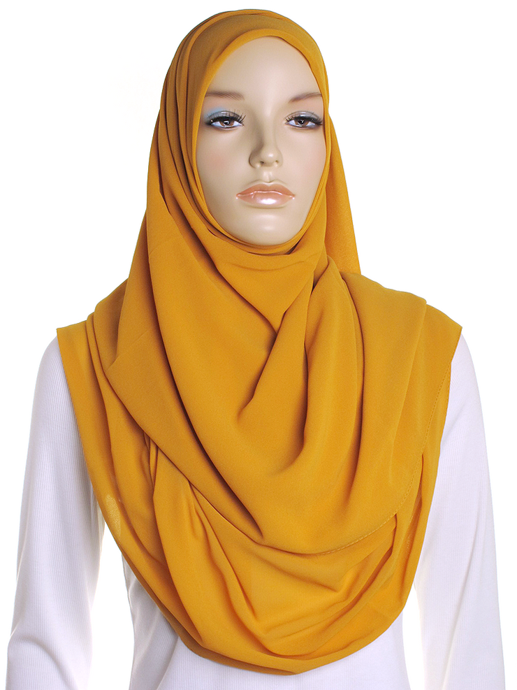 Autumn Gold Square Chiffon Hijab