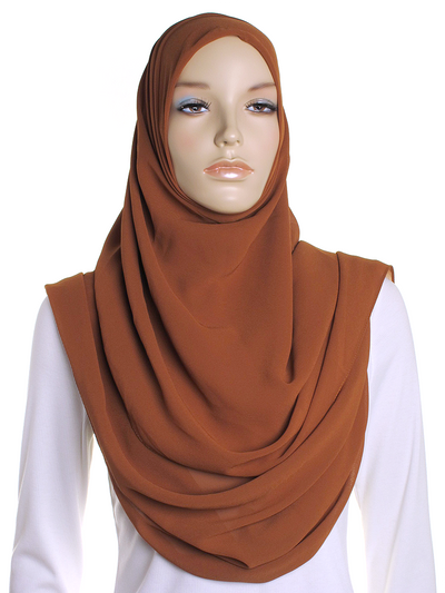 Copper Square Chiffon Hijab