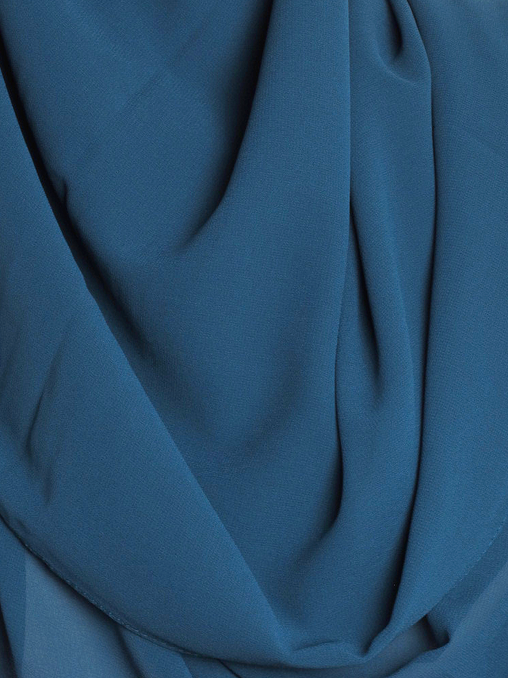 Dark Teal Square Chiffon Hijab