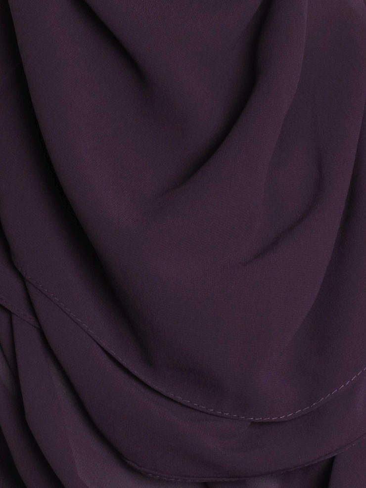 Purple Square Chiffon Hijab