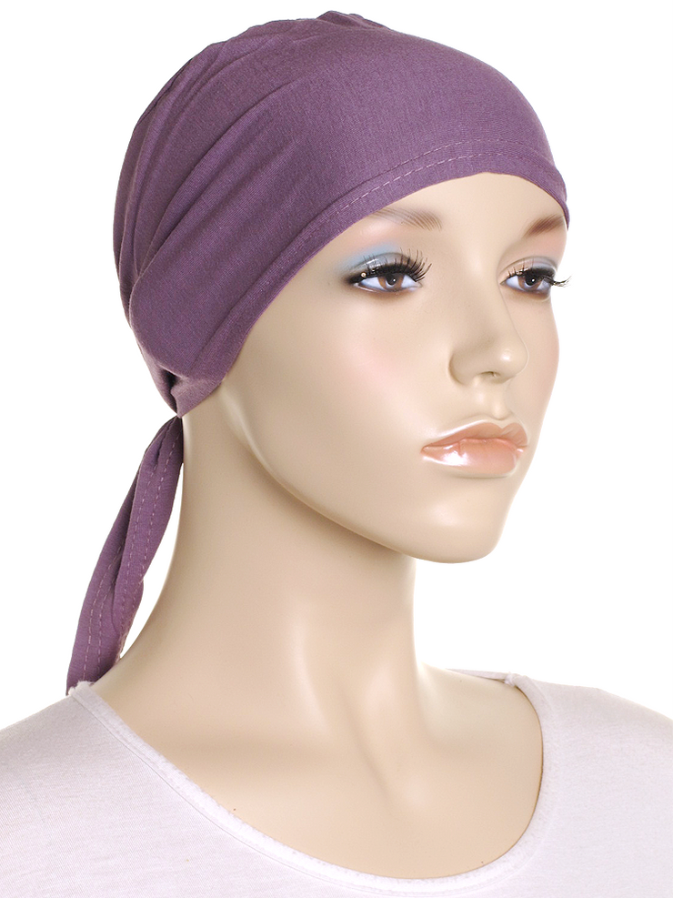 Antique Fuchsia Plain Tie Back Bonnet - Hijab Store Online