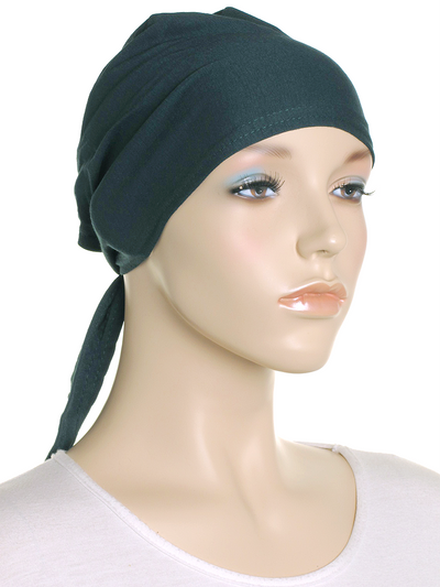 Forest Green Plain Tie Back Bonnet - Hijab Store Online