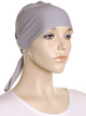 Haze Grey Plain Tie Back Bonnet