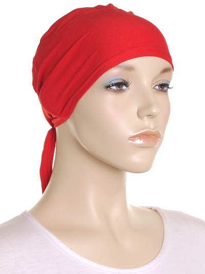 Pepper Red Plain Tie Back Bonnet - Hijab Store Online