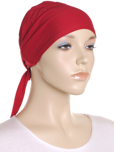 Rio Red Plain Tie Back Bonnet - Hijab Store Online