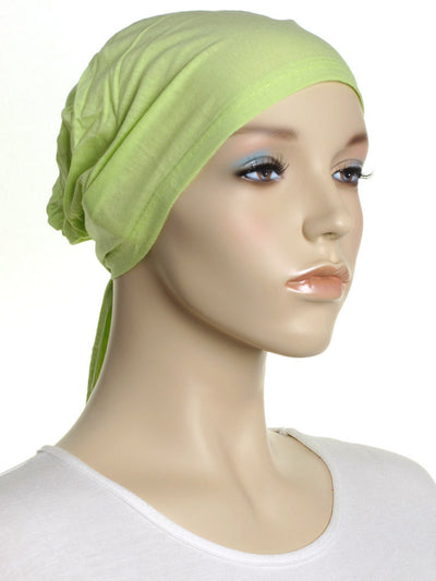 Tea Green Plain Tie Back Bonnet - Hijab Store Online