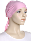 Ballet Pink Plain Tie Back Bonnet