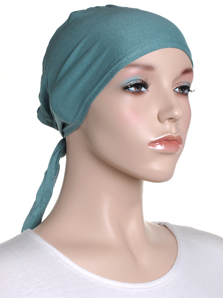 Fern Green Plain Tie Back Bonnet - Hijab Store Online