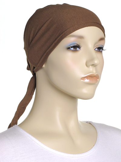Gingerbread Plain Tie Back Bonnet - Hijab Store Online