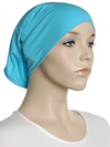 Azure Plain Cotton Tube Underscarf