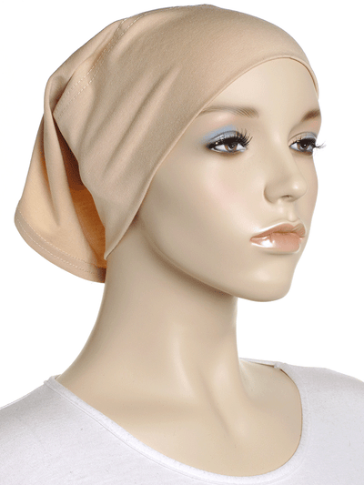 Buttermilk Beige Plain Cotton Tube Underscarf - Hijab Store Online