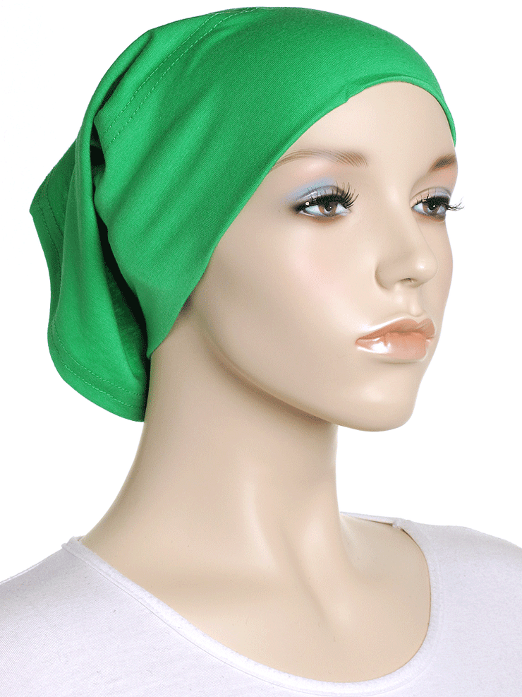 Emerald Green Plain Cotton Tube Underscarf - Hijab Store Online