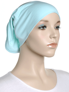Mint Plain Cotton Tube Underscarf