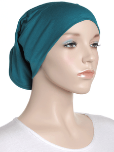 Peacock Green Plain Cotton Tube Underscarf