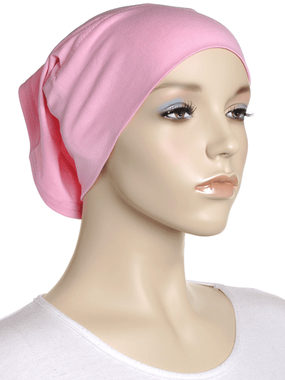 Pink Plain Cotton Tube Underscarf - Hijab Store Online