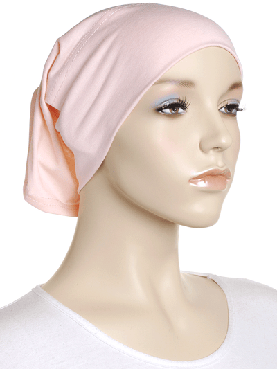 Porcelain Peach Plain Cotton Tube Underscarf - Hijab Store Online