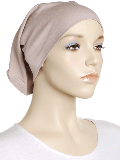 Stone Beige Plain Cotton Tube Underscarf - Hijab Store Online