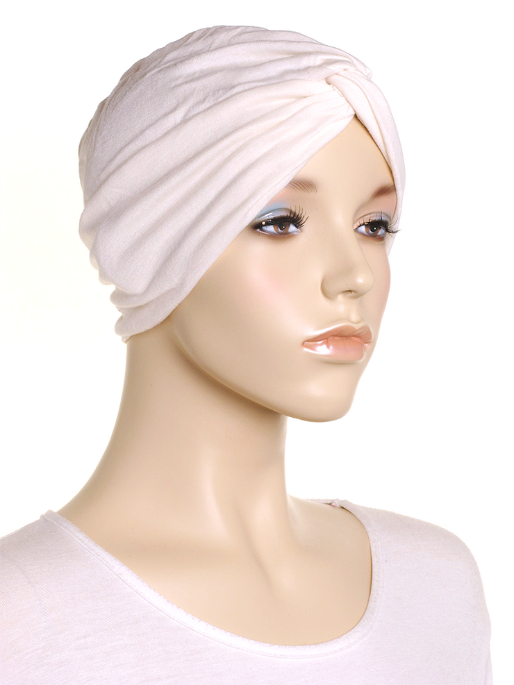 Cream Turban Hat - Hijab Store Online