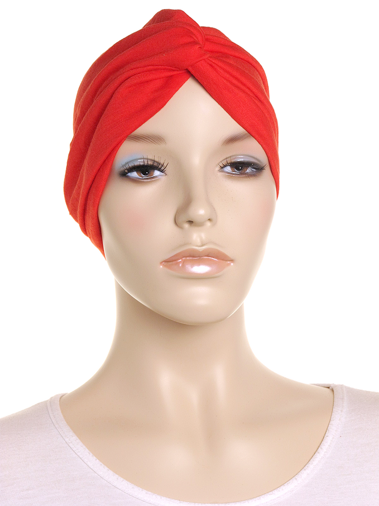 Red Turban Hat - Hijab Store Online