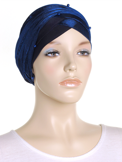 Royal Shimmer Turban Wrap Hat
