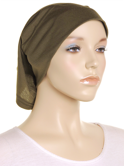 Dark Olive Arc Shaped Underscarf - Hijab Store Online