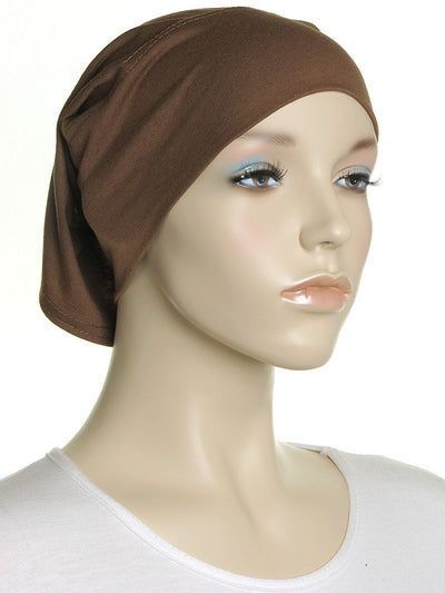 Brown Plain Cotton Tube Underscarf - Hijab Store Online