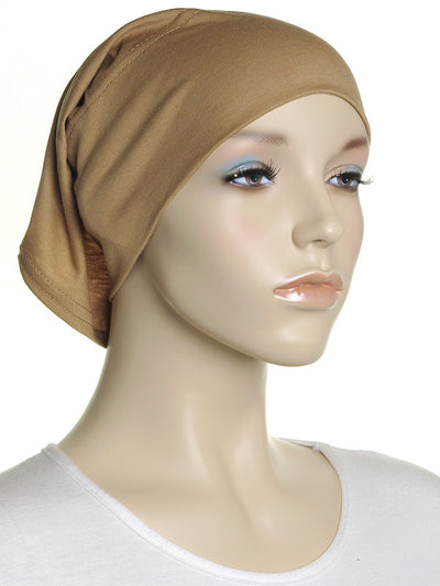 Caramel Plain Cotton Tube Underscarf - Hijab Store Online