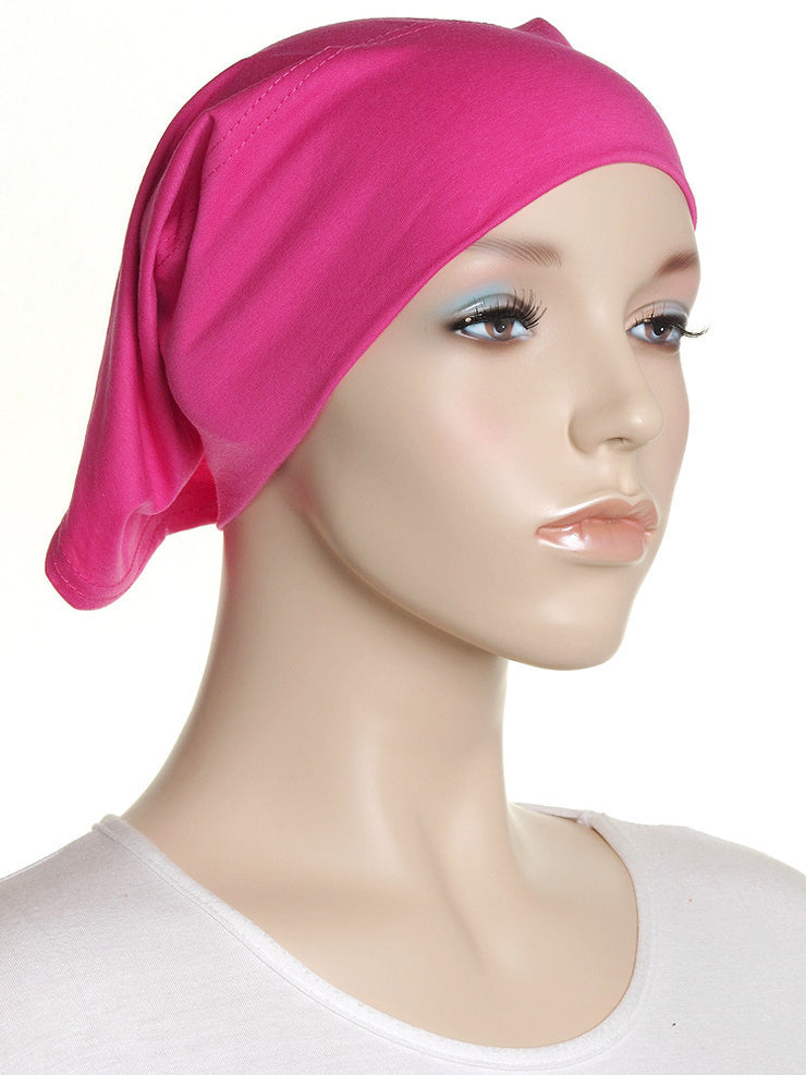 Hot Pink Plain Cotton Tube Underscarf - Hijab Store Online