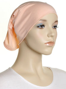 Light Apricot Plain Cotton Tube Underscarf - Hijab Store Online