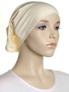 Light Canary Plain Cotton Tube Underscarf