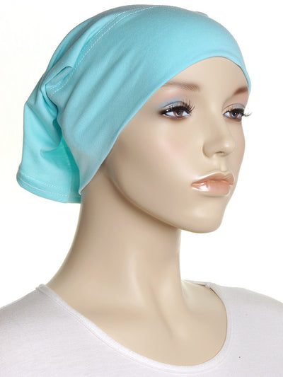 Pastel Green Plain Cotton Tube Underscarf - Hijab Store Online