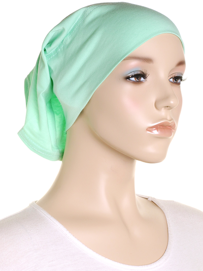 Retro Mint Plain Cotton Tube Underscarf - Hijab Store Online