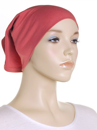 Rouge Pink Plain Cotton Tube Underscarf