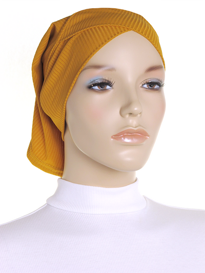 Autumn Gold Criss Cross Ribbed Underscarf