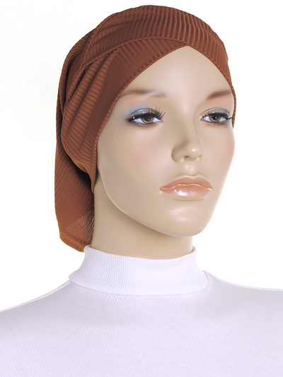 Chestnut Criss Cross Ribbed Underscarf