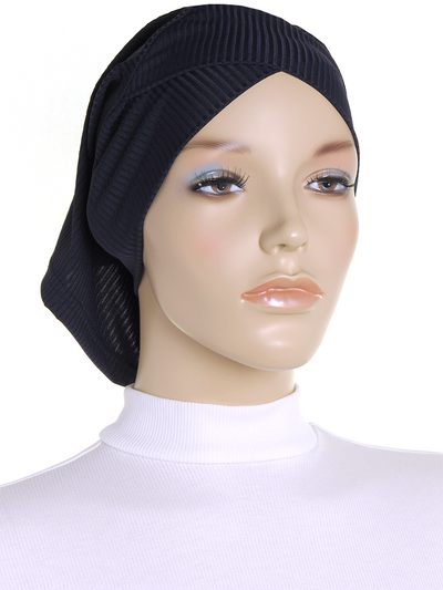 Navy Criss Cross Ribbed Underscarf