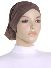 Taupe Criss Cross Ribbed Underscarf