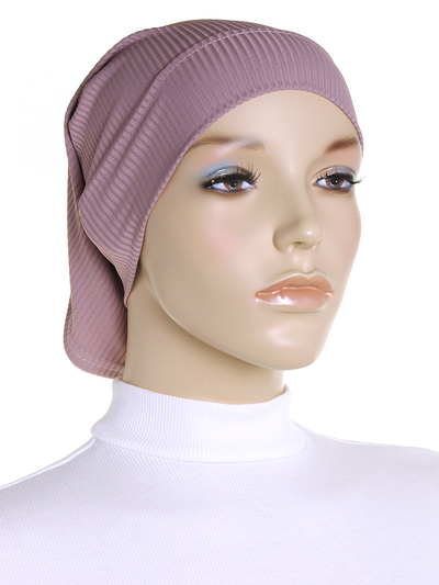 Mauve Ribbed Underscarf