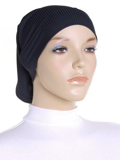 Navy Ribbed Underscarf
