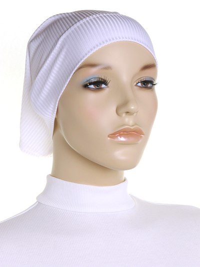 White Ribbed Underscarf