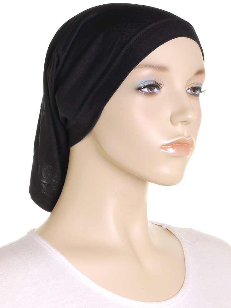 Black Stretch Tube Underscarf - Hijab Store Online