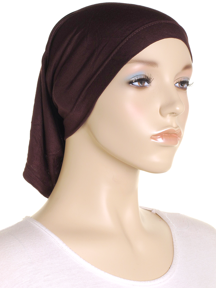 Brown Stretch Tube Underscarf - Hijab Store Online