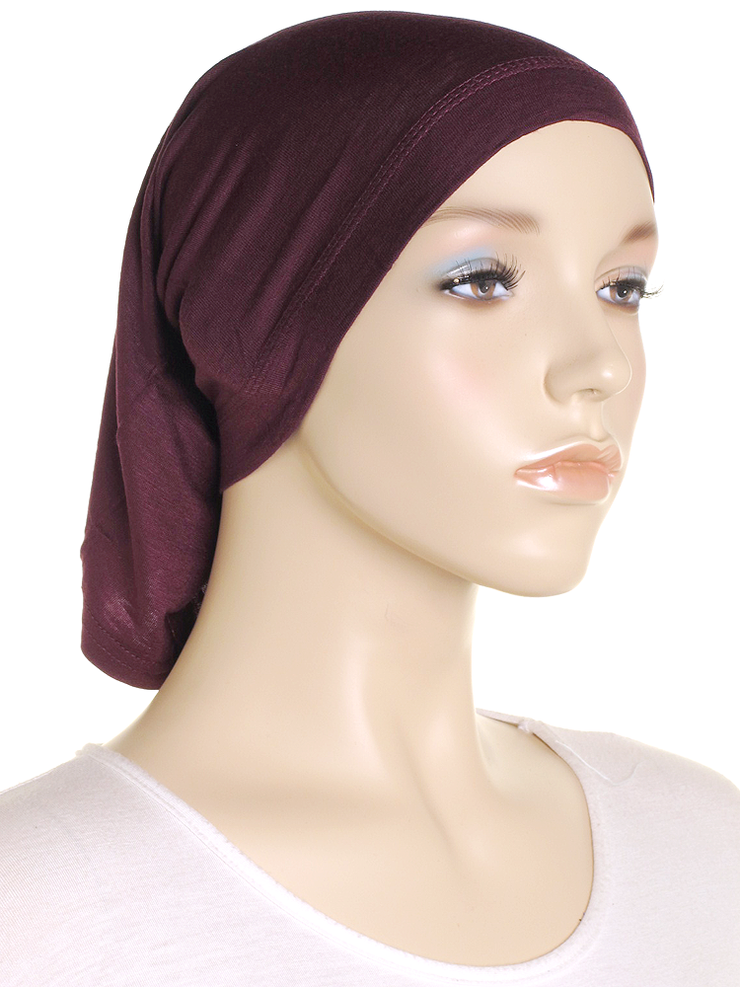 Burgundy Stretch Tube Underscarf - Hijab Store Online