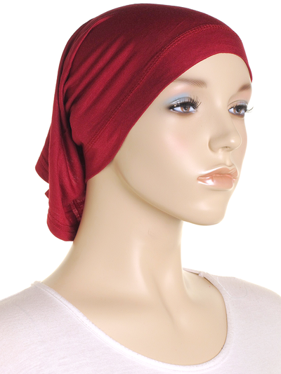 Maroon Stretch Tube Underscarf - Hijab Store Online